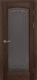 Дверь Ока массив сосны модель Витраж