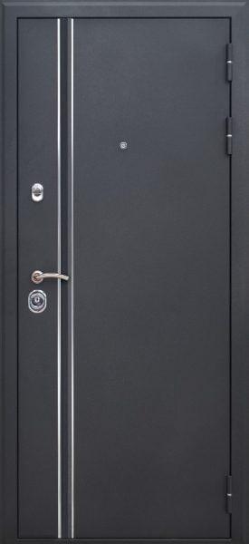Входная дверь FeDoor Квадро LINE цвет Черный