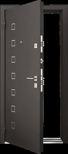 Входная дверь MASTINO AREA Черный шелк / Каштан темный
