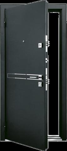 Входная дверь MASTINO STRADA Черный шелк - Дуб мореный