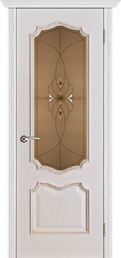 Межкомнатная Дверь Вист ПРЕМЬРА БЕЛАЯ ПАТИНА