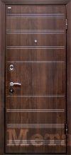 Дверь МеталЮр М1 темный орех
