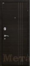 Дверь МеталЮр М15 венге кроскут, зеркало