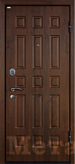 Дверь Юркас МеталЮр М3, темный орех