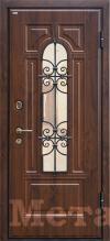 Дверь МеталЮр М30, темный орех