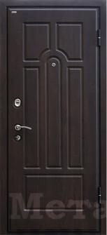 Дверь МеталЮр М5 темный орех