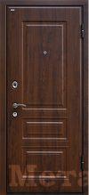 Дверь МеталЮр М9 темный орех