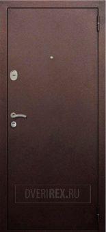 Входная Дверь Rex ReX 1A Зеркало Беленый Дуб