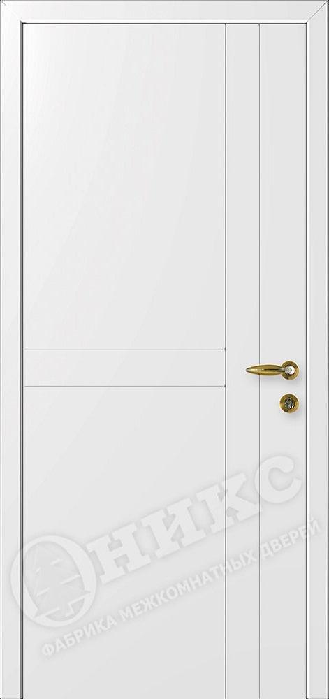 Огнестойкая дверь Оникс Белая с фрезеровкой