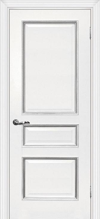 Межкомнатная дверь Мурано 2 Белый серебро