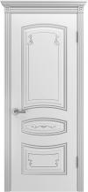 Межкомнатная дверь Соната Грэйс В2 ПГ Серебряная патина-1