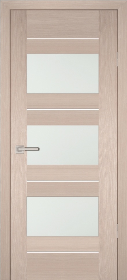 Межкомнатная дверь PROFILO PORTE PS-11, Капучино Мелинга со стеклом Сатинат