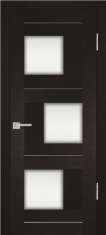 Межкомнатная дверь PROFILO PORTE PS-13, Венге Мелинга со стеклом Сатинат