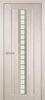 Межкомнатная дверь PROFILO PORTE PS-16, ЭшВайт Мелинга со стеклом Сатинат, пескоструйная обработка