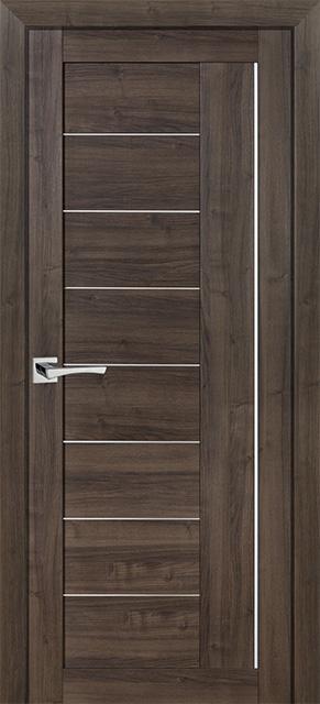 Межкомнатная дверь PROFILO PORTE PS-17, Орех пасадена со стеклом Сатинат