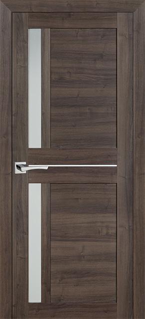 Межкомнатная дверь PROFILO PORTE PS-19, Орех пасадена со стеклом Сатинат