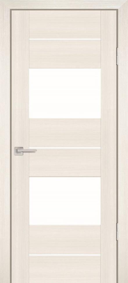 Межкомнатная дверь PROFILO PORTE PS-21, Перламутровый дуб со стеклом Сатинат