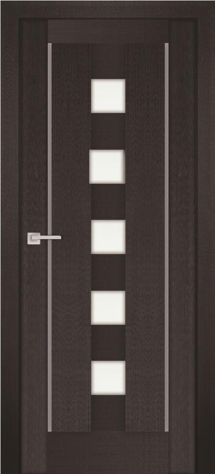 Межкомнатная дверь PROFILO PORTE PS-34, Венге Мелинга со стеклом Сатинат