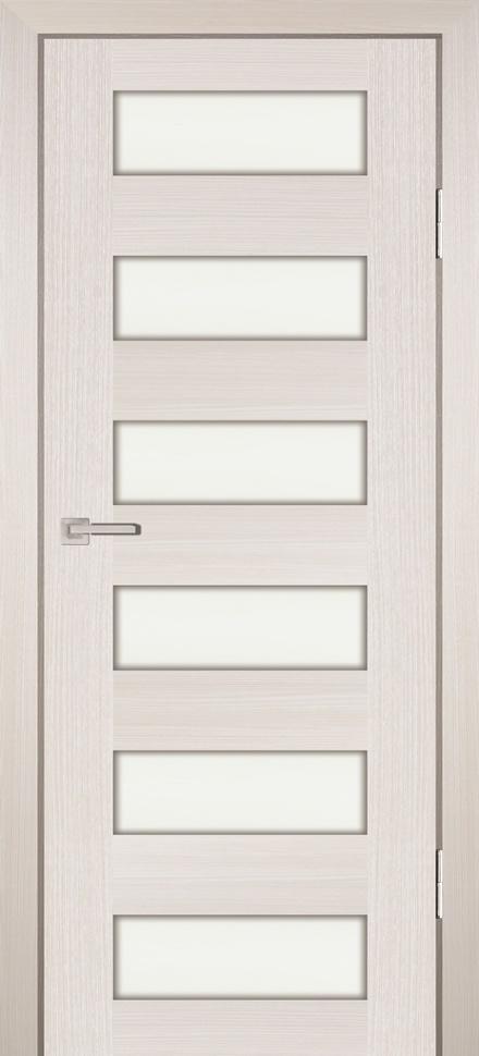 Межкомнатная дверь PROFILO PORTE PS-35, ЭшВайт Мелинга со стеклом Сатинат