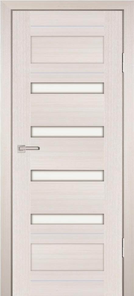 Межкомнатная дверь PROFILO PORTE PS-36, ЭшВайт Мелинга со стеклом Сатинат