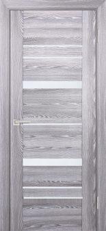 Межкомнатная дверь PROFILO PORTE PSK-2, Ривьера грей со стеклом Белый лакобель