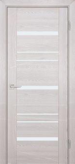 Межкомнатная дверь PROFILO PORTE PSK-3, Ривьера крем со стеклом Белый лакобель
