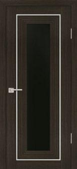 Межкомнатная дверь PROFILO PORTE PSS-25, Мокко со стеклом Черный лакобель