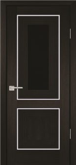 Межкомнатная дверь PROFILO PORTE PSS-27, Мокко со стеклом Черный лакобель