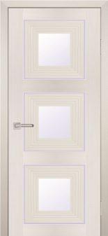 Межкомнатная дверь PROFILO PORTE PSS-31, Перламутровый дуб со стеклом Белый лакобель