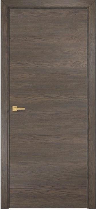 Дверь Гладкая горизонтальный шпон