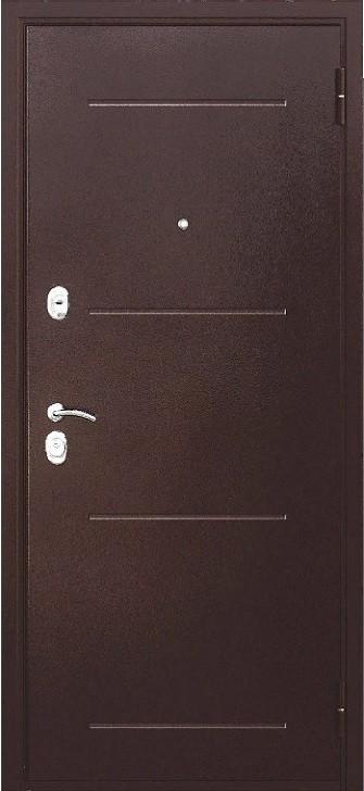 Входная дверь 7,5 см Гарда Медный Антик Белый Ясень