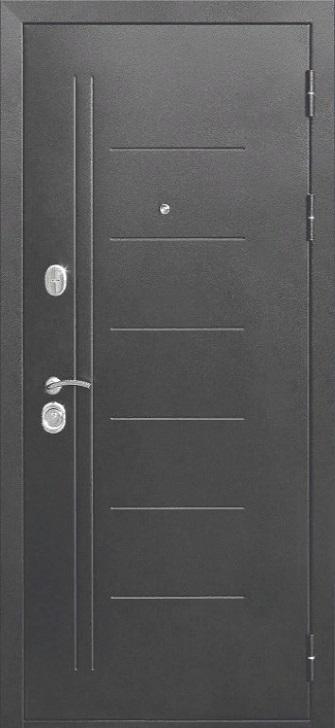 Входная дверь 10 см Троя Серебро Царга Лиственница беж