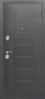 Входная дверь 10 см Троя Серебро Царга Дымчатый Дуб