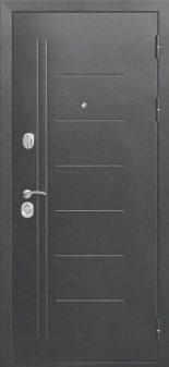 Входная дверь 10 см Троя Серебро Царга Темный Кипарис