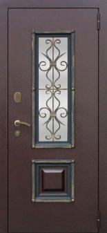 Входная дверь Плющ Белый Ясень