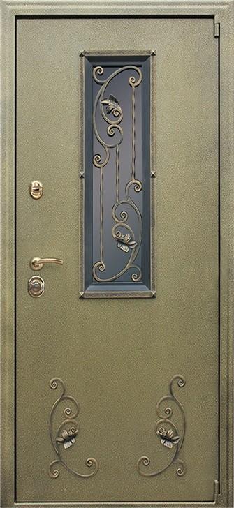 Входная дверь АСД с окном и ковкой