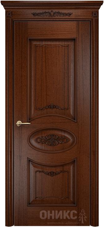 Межкомнатная дверь Оникс Эллипс с декором