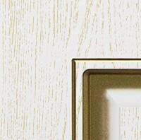 Белая эмаль патина золото по фрезе