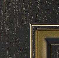 Эмаль черная патина золото по фрезе