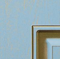 Эмаль голубая патина золото по фрезе